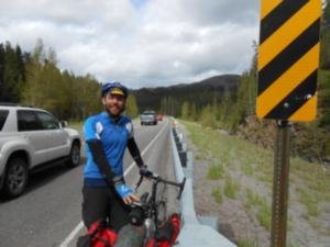 Dan riding near Marias pass