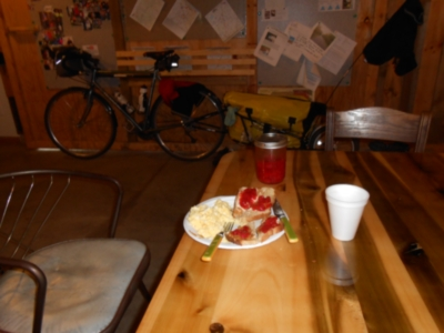 Breakfast at the BikeBarn