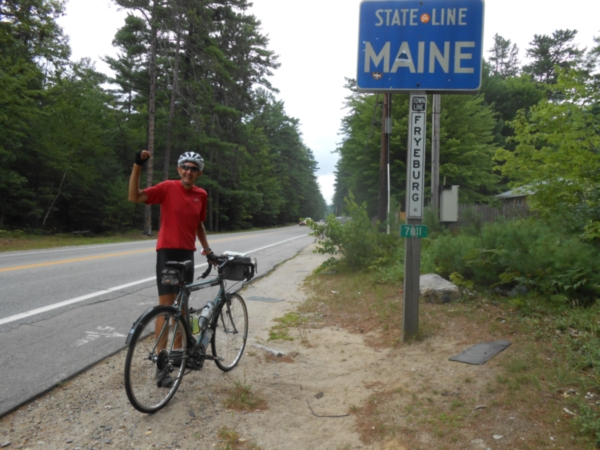 Shular at the Maine State Line