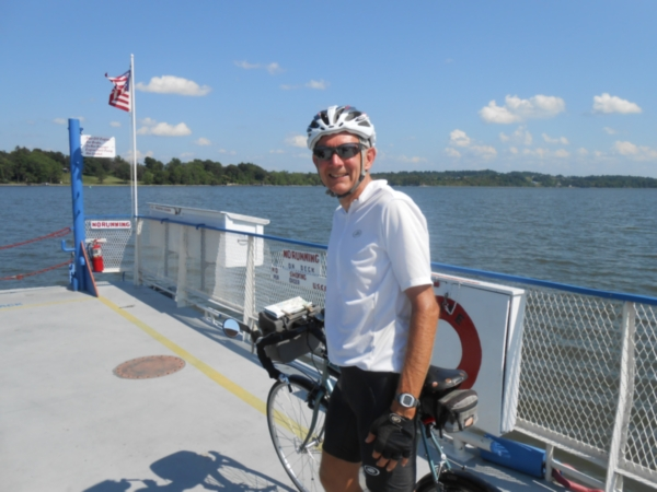 Crossing Lake Champlain on a ferry boat