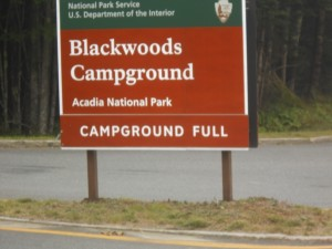 Blackwood Campground Full sign