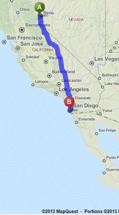 Southern Tier Route Across The Usa Is San Diego East Of