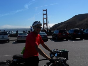 Shular Scudamore at Golden Gate Bridge
