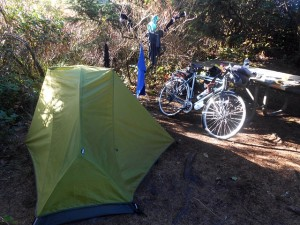 Tent and laundry