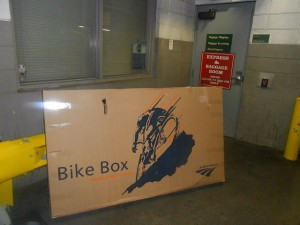 Amtrak bicycle box