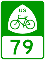 U.S. Bicycle Route 76 sign