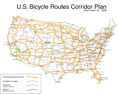 Bicycle routes across the usa and bicycle maps across america us bicycle route system sciox Gallery