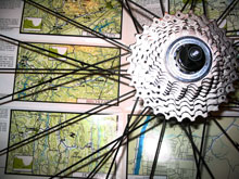 Bicycling maps and wheel